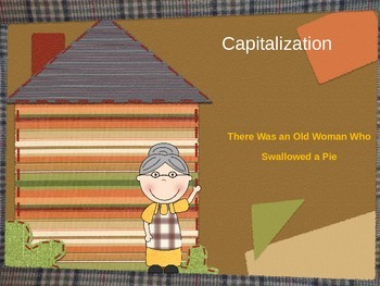 Capitalization PowerPoint: There Was an Old Lady Who Swall