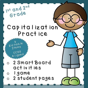 Capitalization Practice (first or second grade)