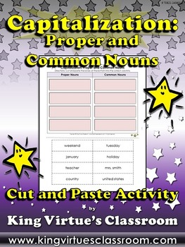 Capitalization: Proper and Common Nouns - King Virtue's Classroom