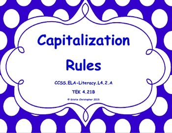 Capitalization Rules Packet