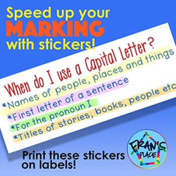 Capitalization Sticker for Language Assessment