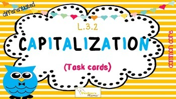 Capitalization Task Cards {L.3.2}