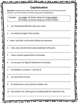 Printables Capitalization Worksheets capitalization worksheet by teacherific in 2 grade teachers pay worksheet
