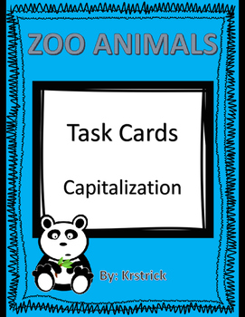 Capitalization: Zoo Animals