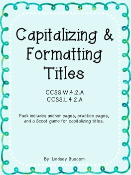Capitalizing & Formatting Titles Pack