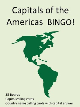 Capitals of the Americas BINGO!