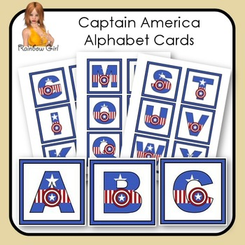 Captain America Alphabet Cards