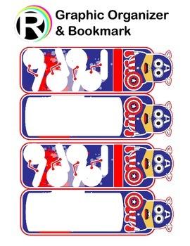 Captain America's(Minion) Graphic Organizer and Bookmark