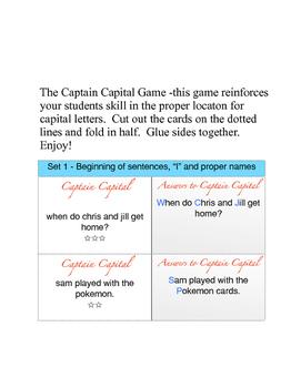 Captain Capital - Capital Letters Game