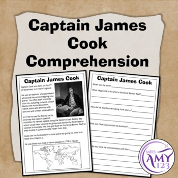 Captain James Cook Comprehension
