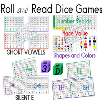 Short Vowels and Long Vowels Dice Games