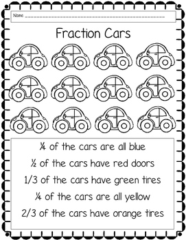 Car Fractions (Freebie)