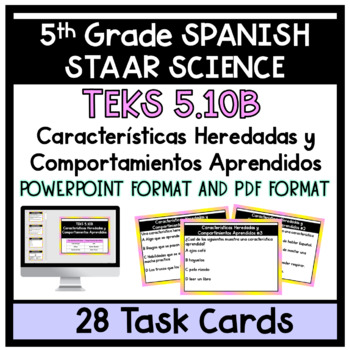 Caracteristicas Heredades y Aprendidas Task Cards