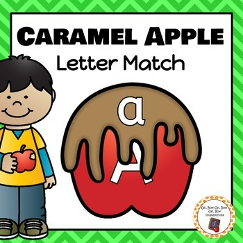 Caramel Apple Letter Matching