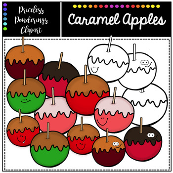 Caramel Apples Clipart