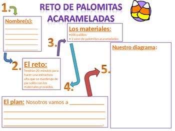 Caramel corn STEM Challenge in Spanish