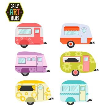Caravan Clip Art - Great for Art Class Projects!