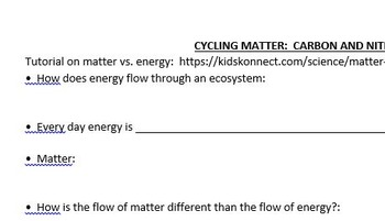 Carbon and Nitrogen Cycles Notespage