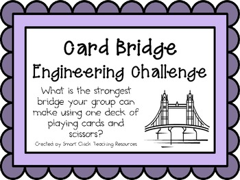 Card Bridges: Engineering Challenge Project ~ Great STEM A