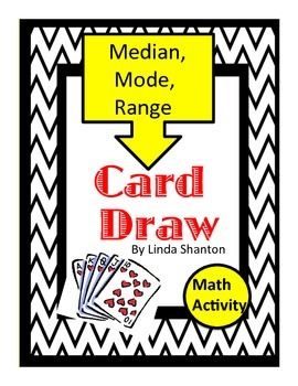 Card Draw - Median, Mode, Range  Activity