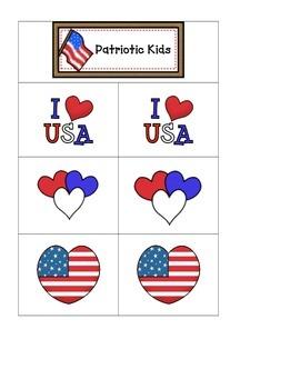 Card Matching- Patriotic