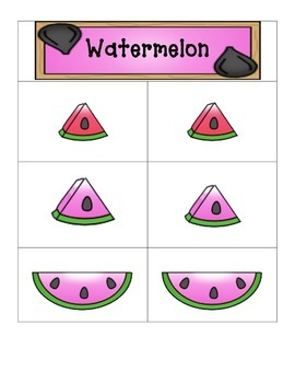 Card Matching- Watermelons