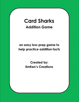 Card Sharks Addition Game