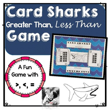 Card Sharks- Greater Than, Less Than, Equal To, Math Card Game