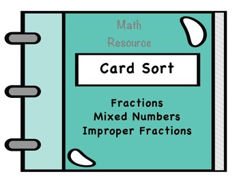 Card Sort to Compare Fractions to 1/2 and 1