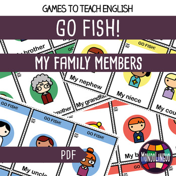 Card game to teach English/ESL: Go Fish about the family