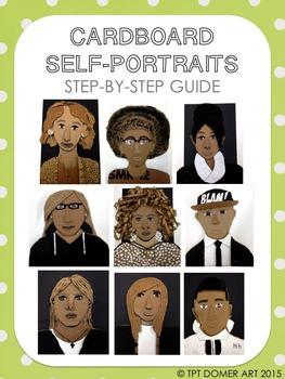 Cardboard Self-Portraits Step by Step Guide