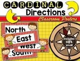 Cardinal Direction {Posters} Mapping with Kindergarten & F