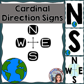 Cardinal Directions Blue Theme