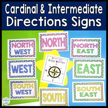 Cardinal Directions & Intermediate Directions Signs: Color