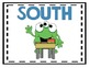 Cardinal Directions Poster-Monster Theme