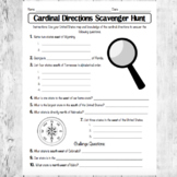 Cardinal Directions Scavenger Hunt