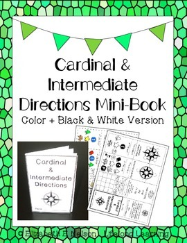 Cardinal and Intermediate Directions Mini-Book (print & go