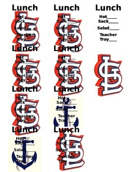 Cardinals Lunch Count (EDITABLE)
