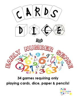 Cards Dice & Early Number Sense - 34 Games