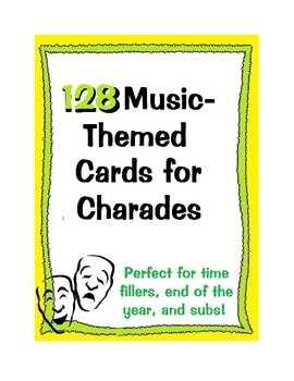Cards for Music Charades