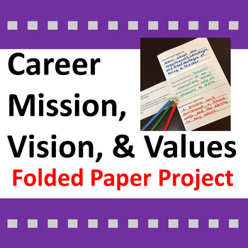 Career Activity for Mission, Vision, & Values Statements /