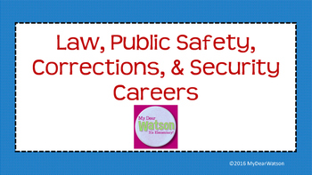 Career Cluster:  Law, Public Safety, Corrections, & Security