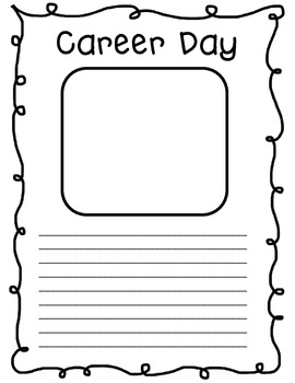 Career Day Follow Up Writing Freebie