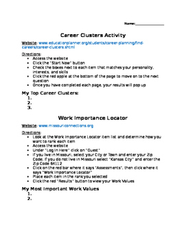 Career Exploration Activities