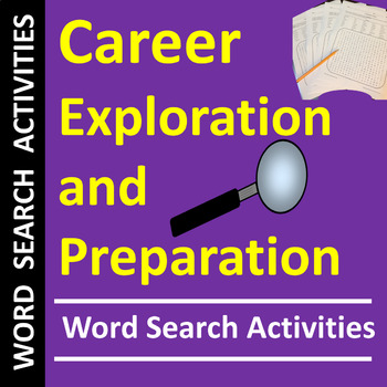 Career Exploration & Preparation Word Search Puzzles