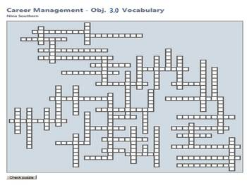 Career Management:  Objective 3.0 Interactive Vocabulary C