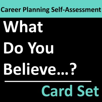 Career Planning Self Assessment Card Set Group Activity