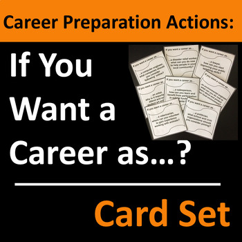 Career Preparation Actions Card Set / Group Activity
