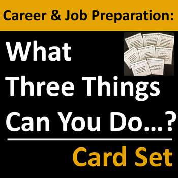 Career Preparation Card Set Group Activity