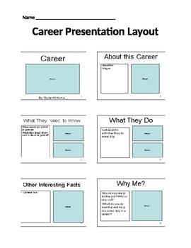 Career Presentation Layout